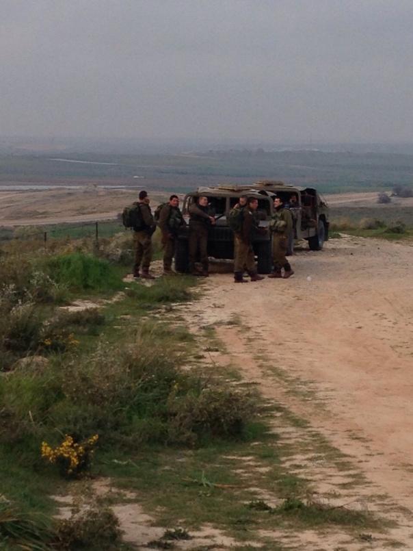 Próximo à fronteira de Gaza